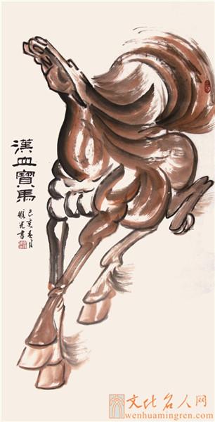 画家薛维光国画作品